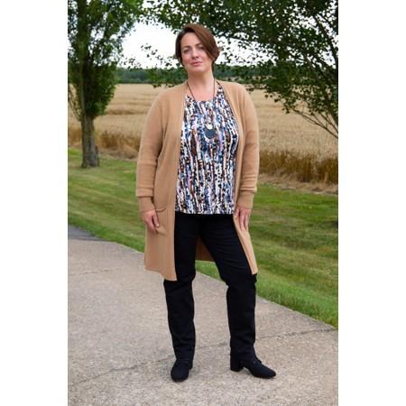 Amazing Woman Purdie Long Cardi - Brown