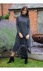 Mama B Anthracite Tiramisu U Plain Fleece Dress