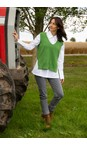 Amazing Woman Fir Green Pixie V Neck Knitted Vest