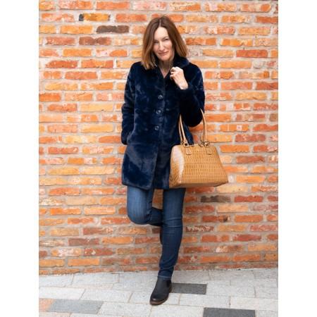 RINO AND PELLE Nonna Faux Fur Coat - Blue