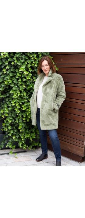 RINO AND PELLE Joela Faux Fur Coat Mistletoe