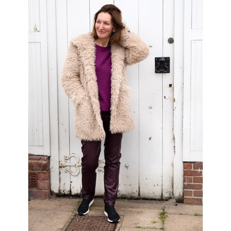 RINO AND PELLE Welda Shaggy Faux Fur Jacket - Pink