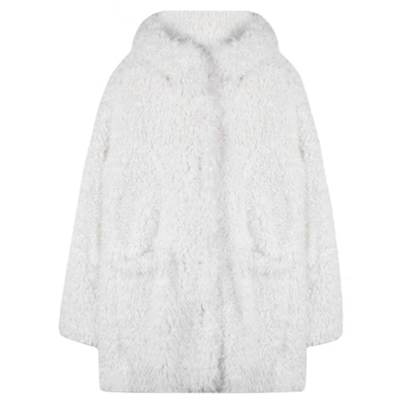 RINO AND PELLE Welda Shaggy Faux Fur Jacket - White