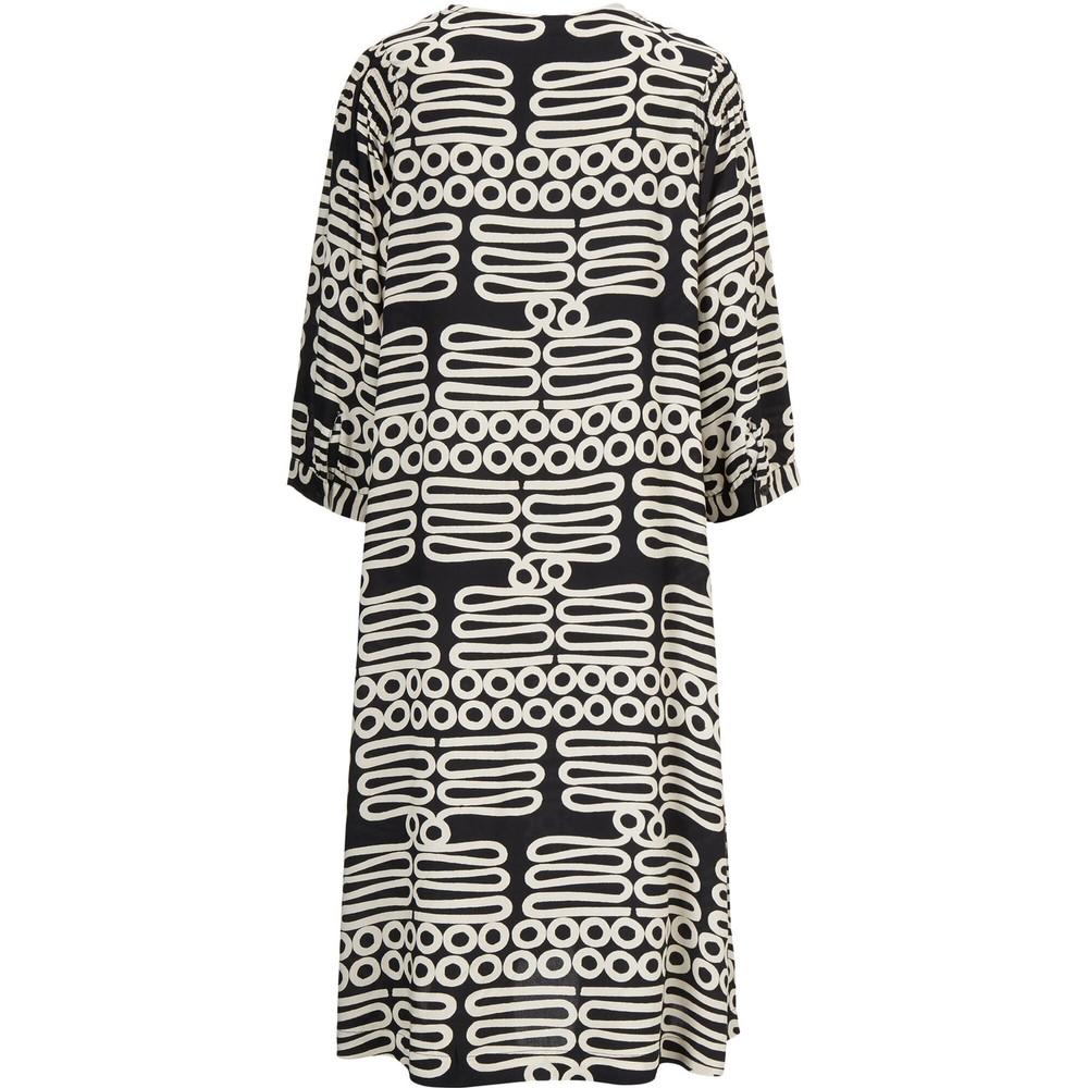 Masai Clothing Niana Monochrome Dress  Black