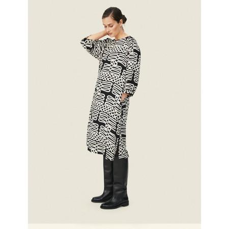 Masai Clothing Niana Monochrome Dress  - Black