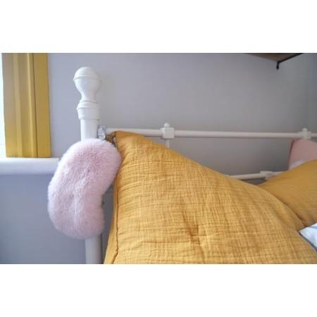 Helen Moore Faux Fur Eye Mask - Pink