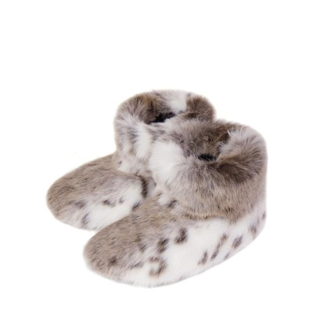 Helen Moore Faux Fur Slipper Boot - Multicoloured