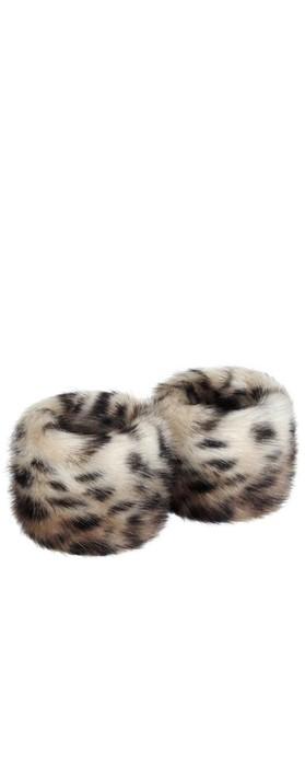 Helen Moore Faux Fur Wrist Warmer Ocelot