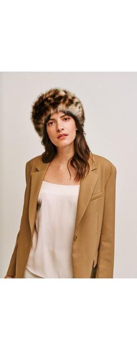 Helen Moore Faux Fur Huff Ocelot