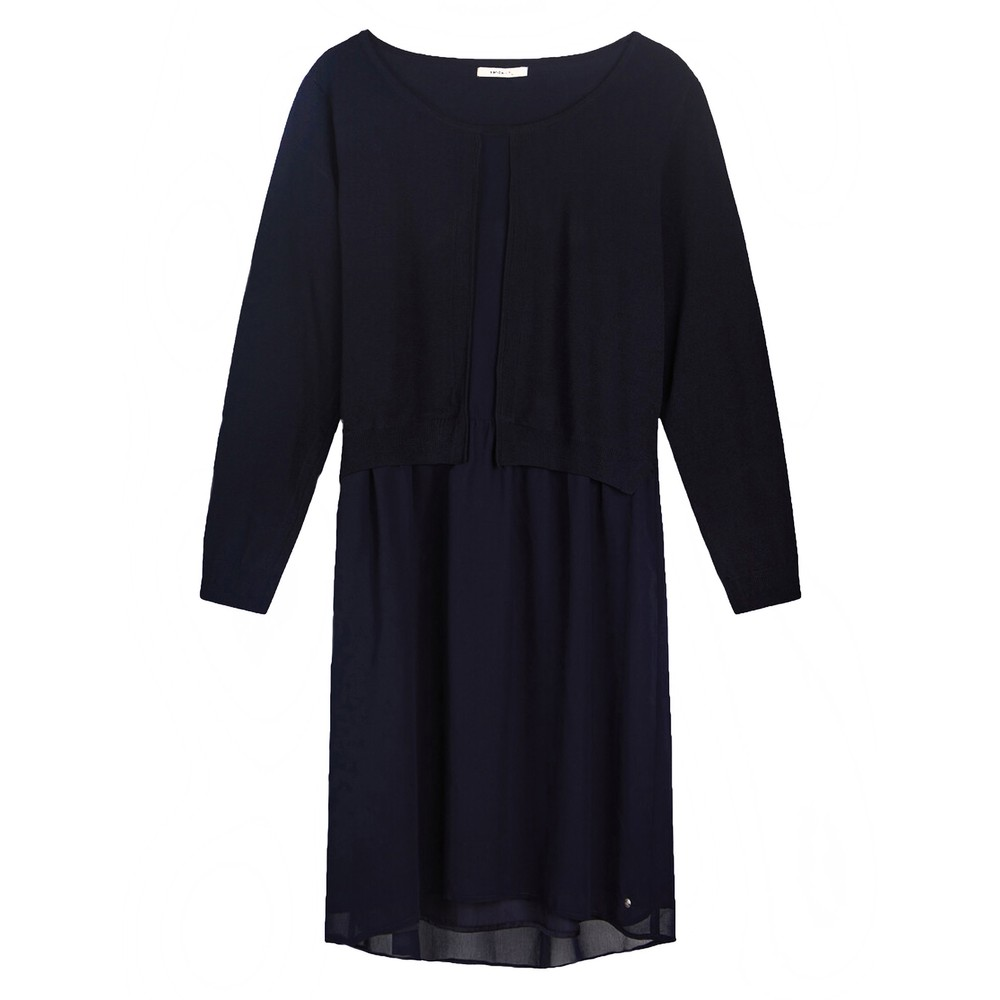 Sandwich Clothing Tunic with knitted Layer Night Sky
