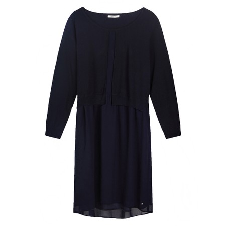 Sandwich Clothing Tunic with knitted Layer - Blue