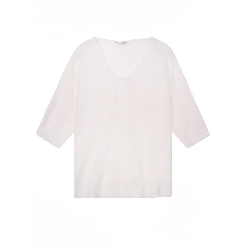 Sandwich Clothing Pullover Long Sleeves  Pure White