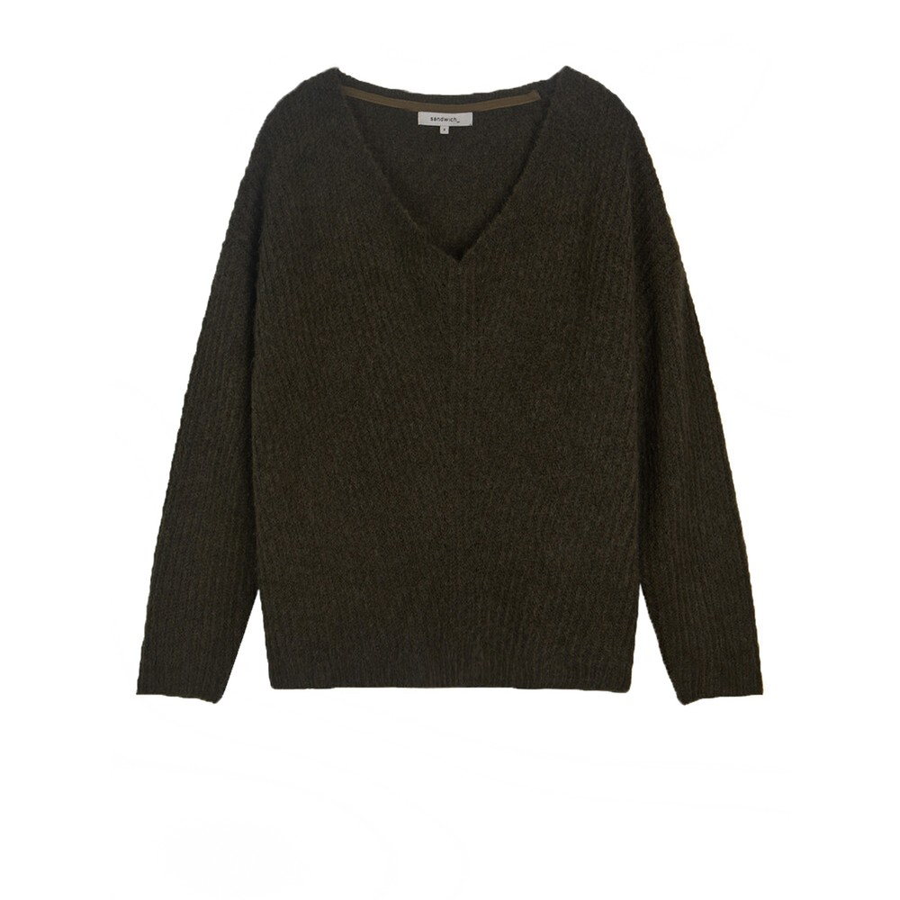 Sandwich Clothing Oversized wool-blend Jumper Military Olive