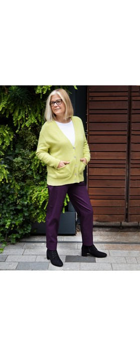 Robell Bella 09 Ankle Length 7/8 Cuff Trouser Plum 591