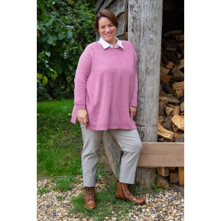 Amazing Woman Cassi X Round Neck Front Seam Knit - Purple