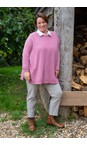 Amazing Woman Orchid Cassi X Round Neck Front Seam Knit
