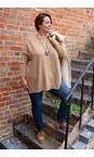 Amazing Woman Caramel Cassi X Round Neck Front Seam Knit
