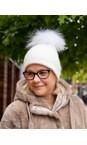 Bitz of Glitz White / White Pom Jessie Pom Pom Hat