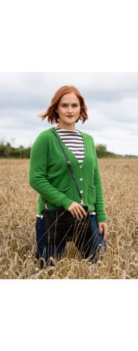 Amazing Woman Pookie Boxy Cardi Fir Green