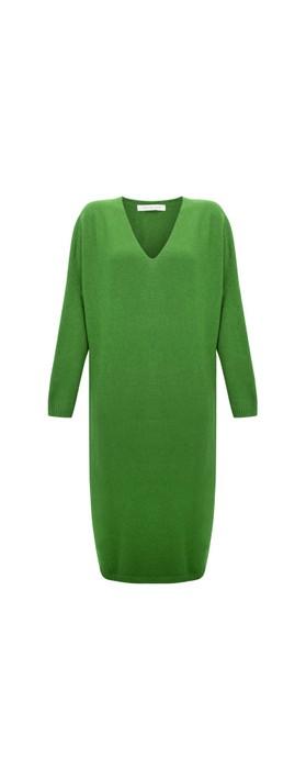 Amazing Woman Pasha V Neck Oversized Dress Fir Green