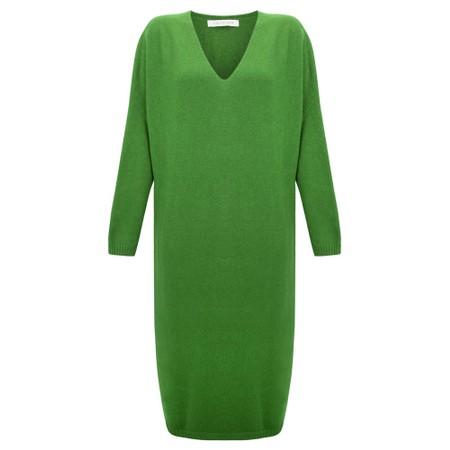 Amazing Woman Pasha V Neck Oversized Dress - Green