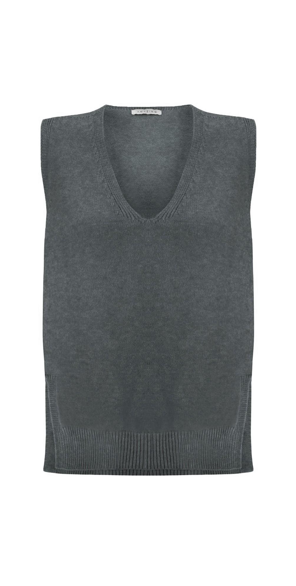 Pixie V Neck Knitted Vest main image