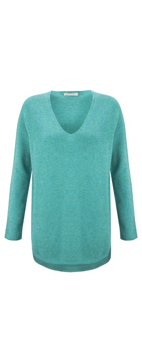 Amazing Woman Perrie V Neck Jumper Opal