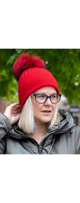 Bitz of Glitz Jessie Pom Pom Hat  True Red / True Red Pom