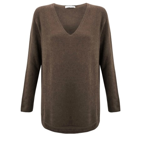 Amazing Woman Perrie V Neck Jumper - Brown