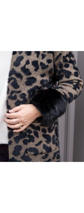 Helen Moore Faux Fur Wrist Warmer Jet