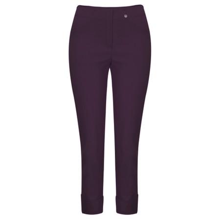 Robell Bella 09 Ankle Length 7/8 Cuff Trouser - Purple
