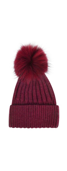 Bitz of Glitz Jessie Pom Pom Hat  Claret / Claret Pom