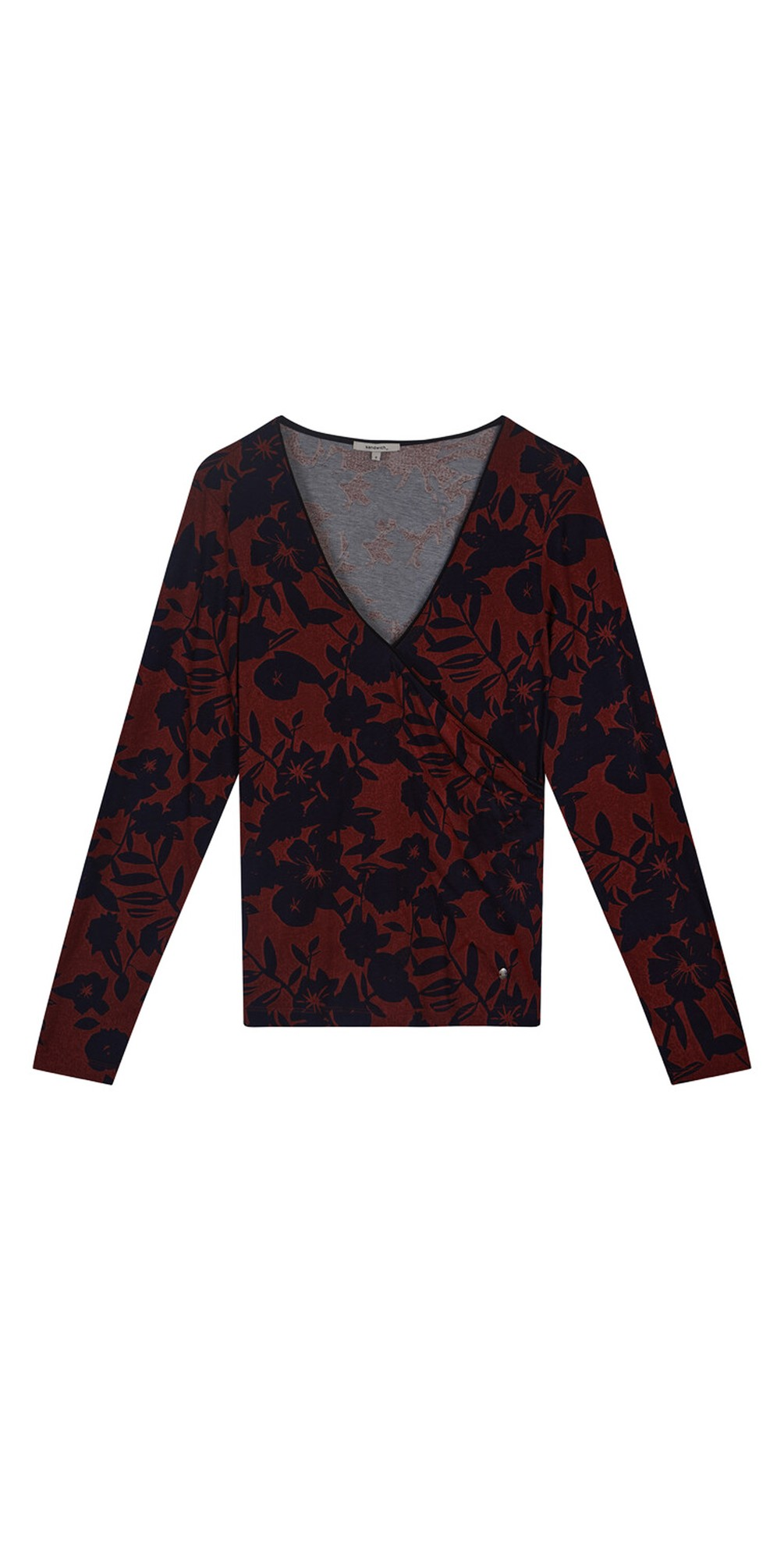 Floral Cross Over Jersey Top  main image