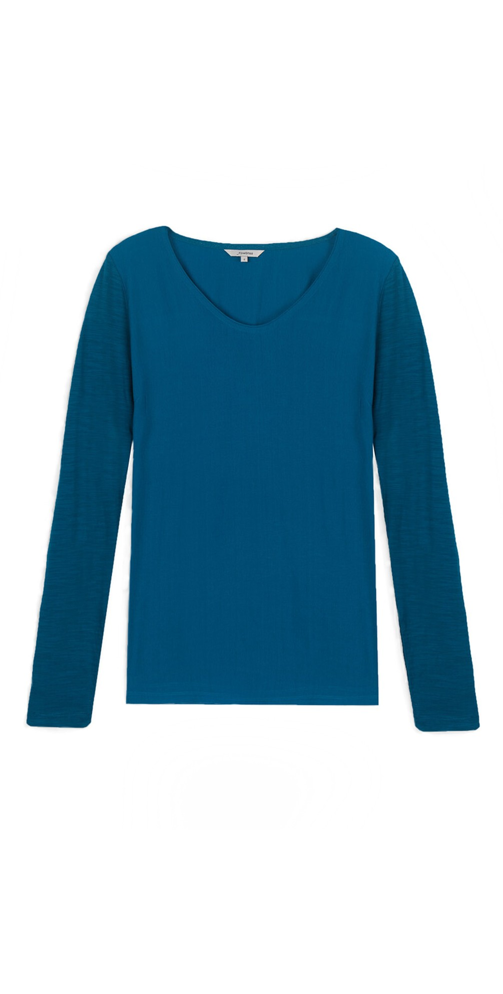 Long Sleeve Contrast Front Top main image