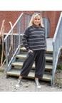 Mama B Nocciola / Anthra Monte Tbiri Stripe Fleece Jumper