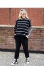 Mama B Nero / Marmo Monte Tbiri Stripe Fleece Jumper