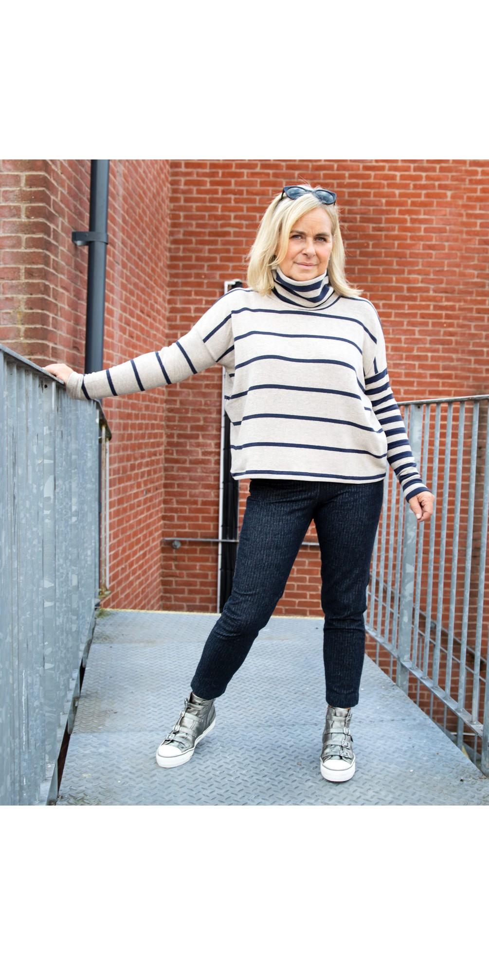 Monte Tbiri Stripe Fleece Jumper main image