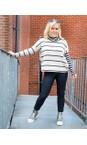 Mama B Blu / Marmo Monte Tbiri Stripe Fleece Jumper