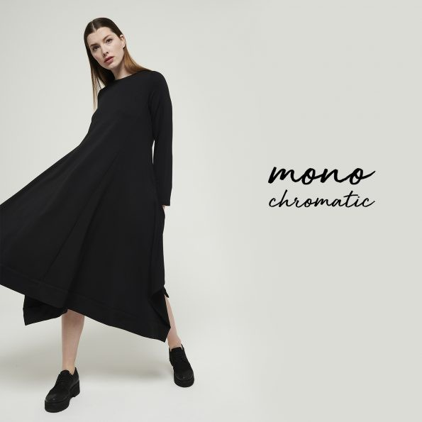 Mes Soeurs et Moi Panthere Molleton Dress Black
