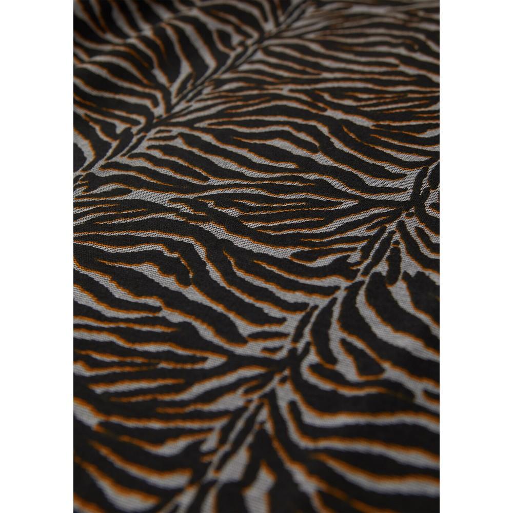 Sandwich Clothing Animal Print Long Sleeved Top Black