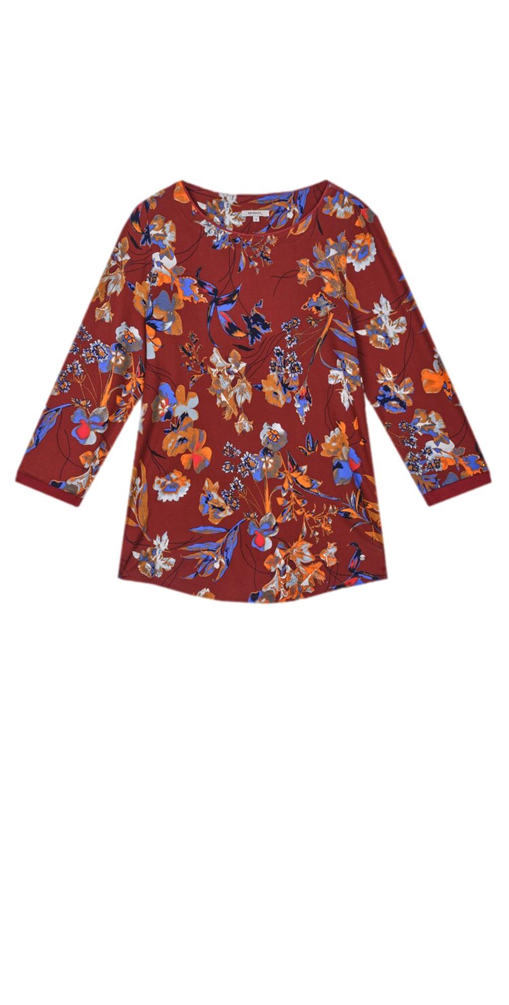 Floral Print Jersey Top main image