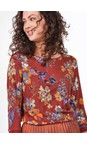 Sandwich Clothing Fired Brick Floral Print Jersey Top