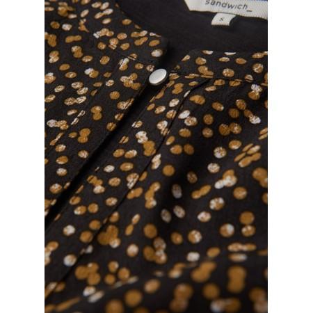 Sandwich Clothing Arty Dots Long Sleeve Top - Black