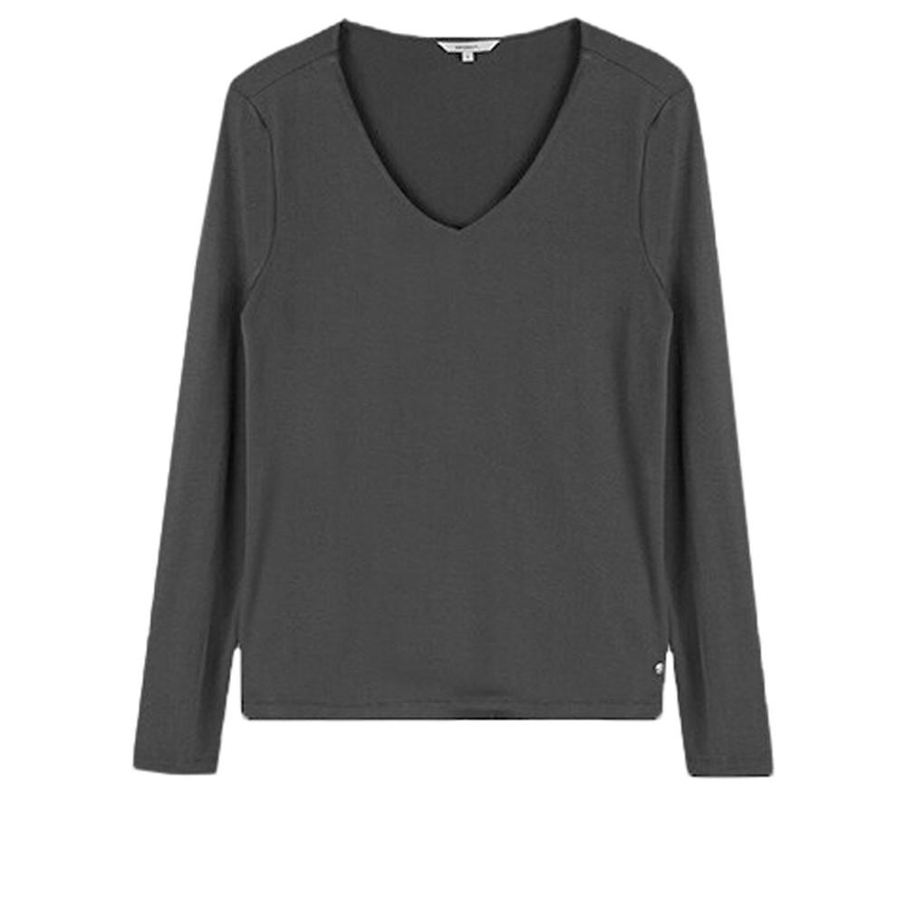 Sandwich Clothing Long Sleeve V-neck T-shirt  Almost Black