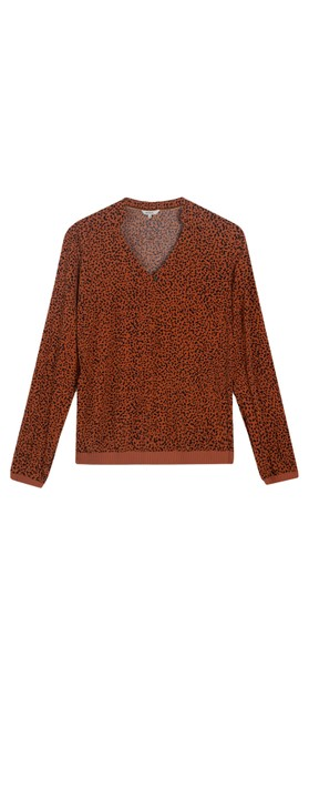 Sandwich Clothing Printed Jersey Blouse  Honey Ginger