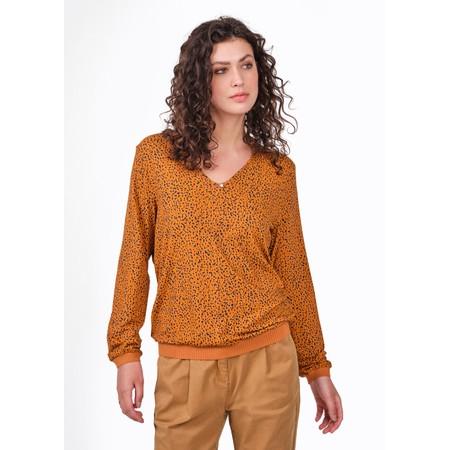 Sandwich Clothing Printed Jersey Blouse  - Orange