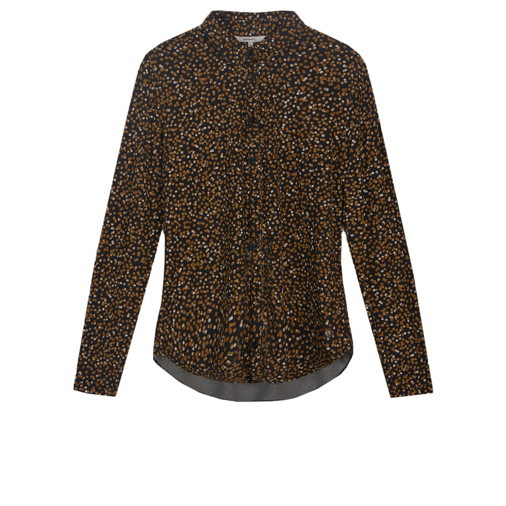 Sandwich Clothing Arty Dots Printed Jersey Shirt Almost Black