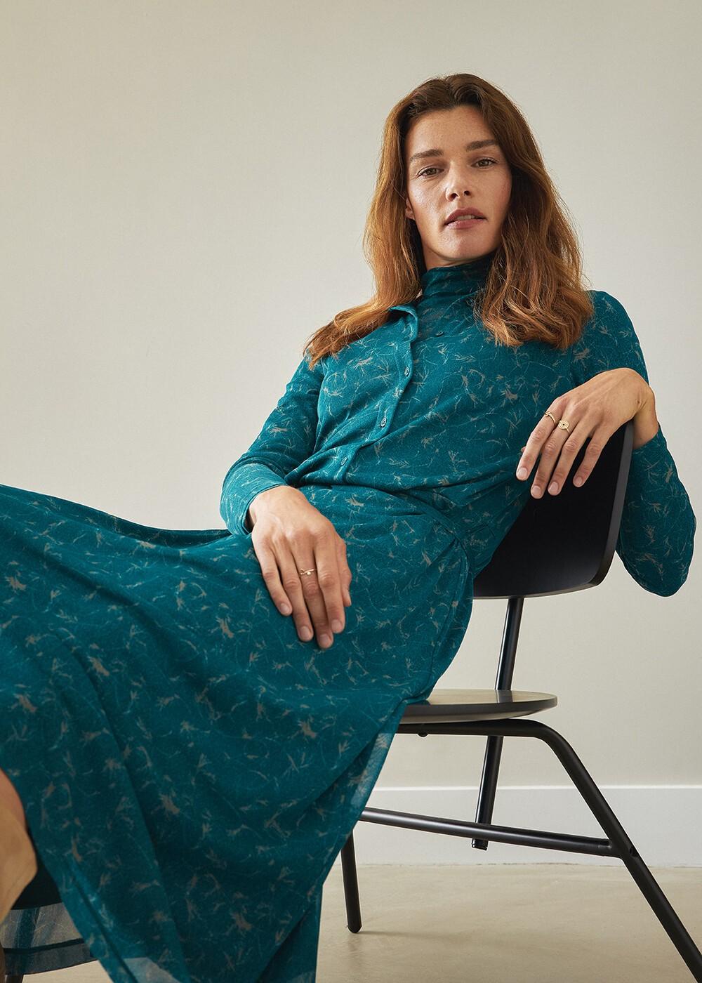 Long Printed Jersey Dress  main image