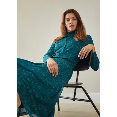Sandwich Clothing Long Printed Jersey Dress  - Blue