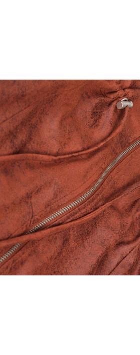 Sandwich Clothing Woven Faux Suede Zip Through Dress  Honey Ginger